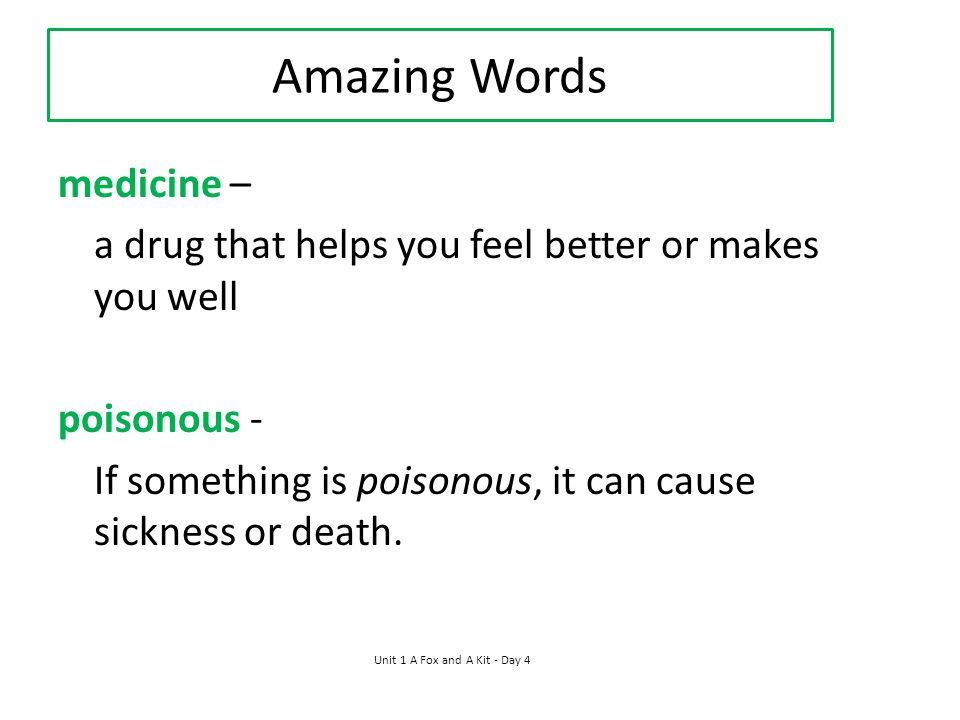 Amazing Words medicine –
