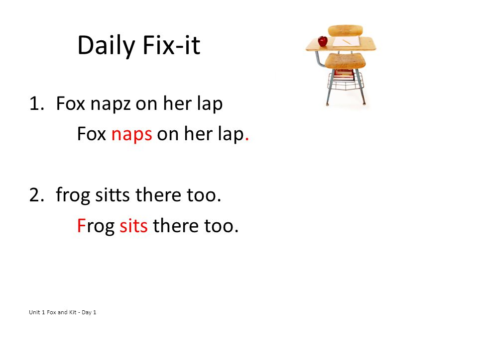 Daily Fix-it Fox napz on her lap Fox naps on her lap.