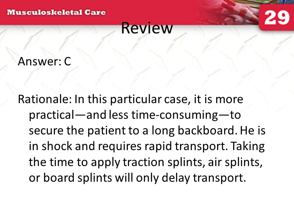 Review Answer: C.