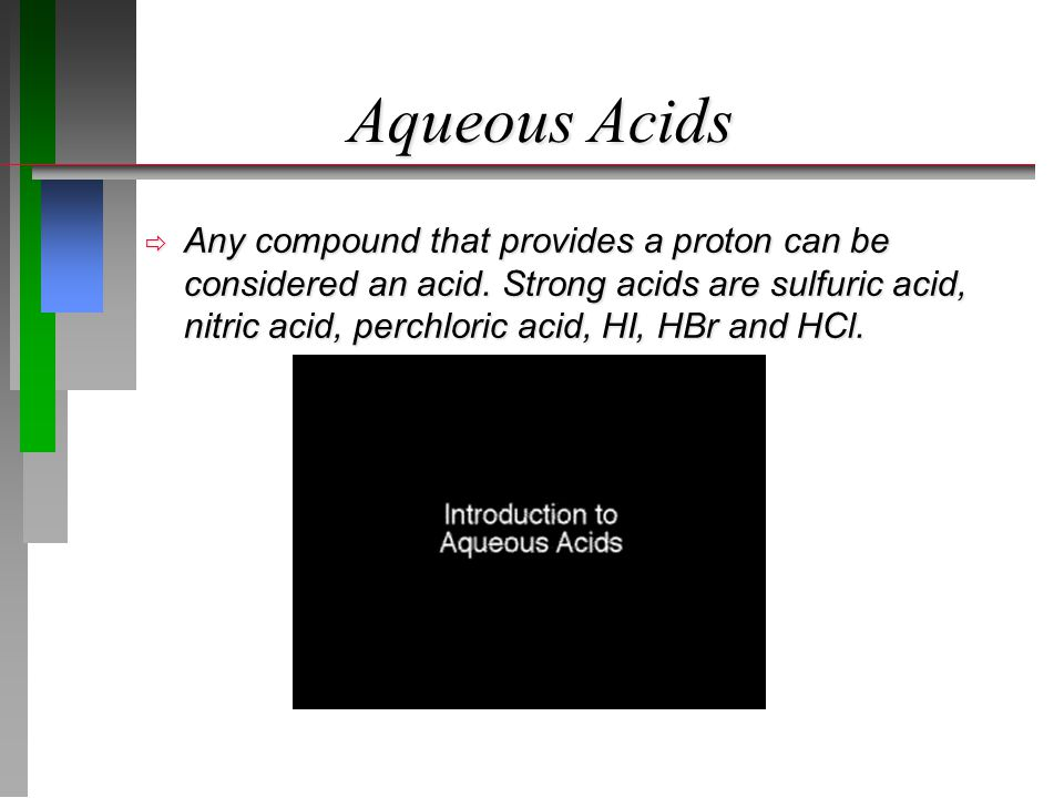 Aqueous Acids