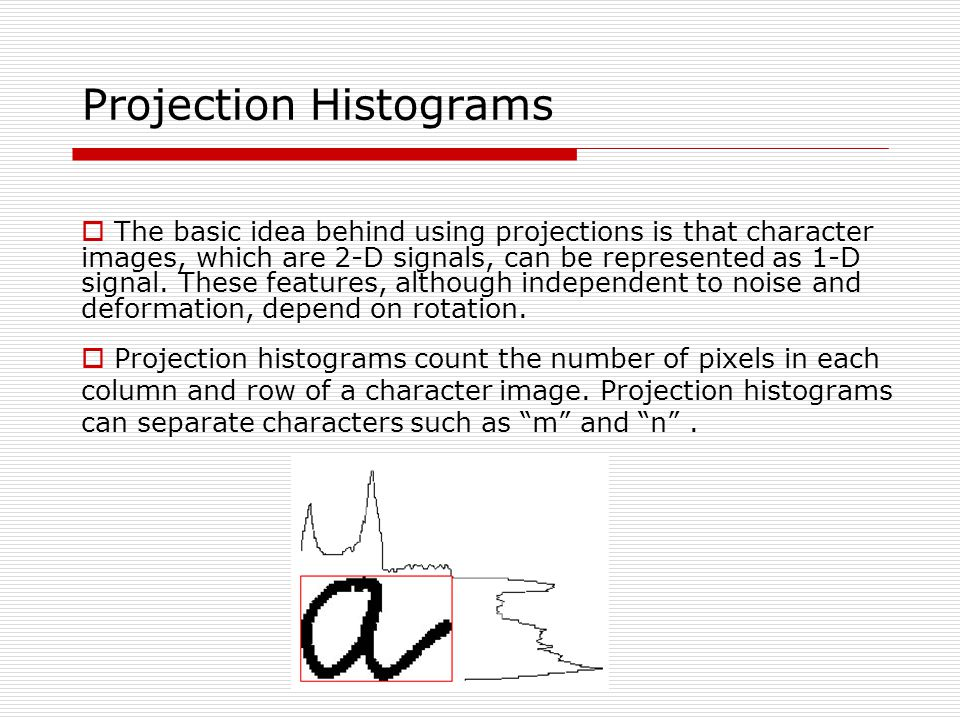 Projection Histograms