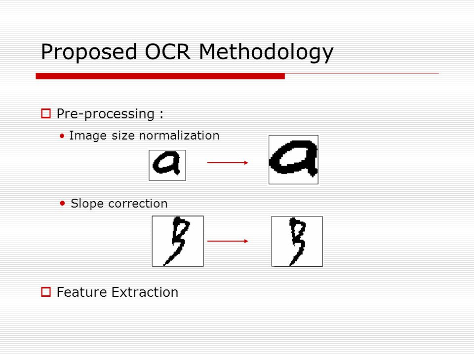 Proposed OCR Methodology