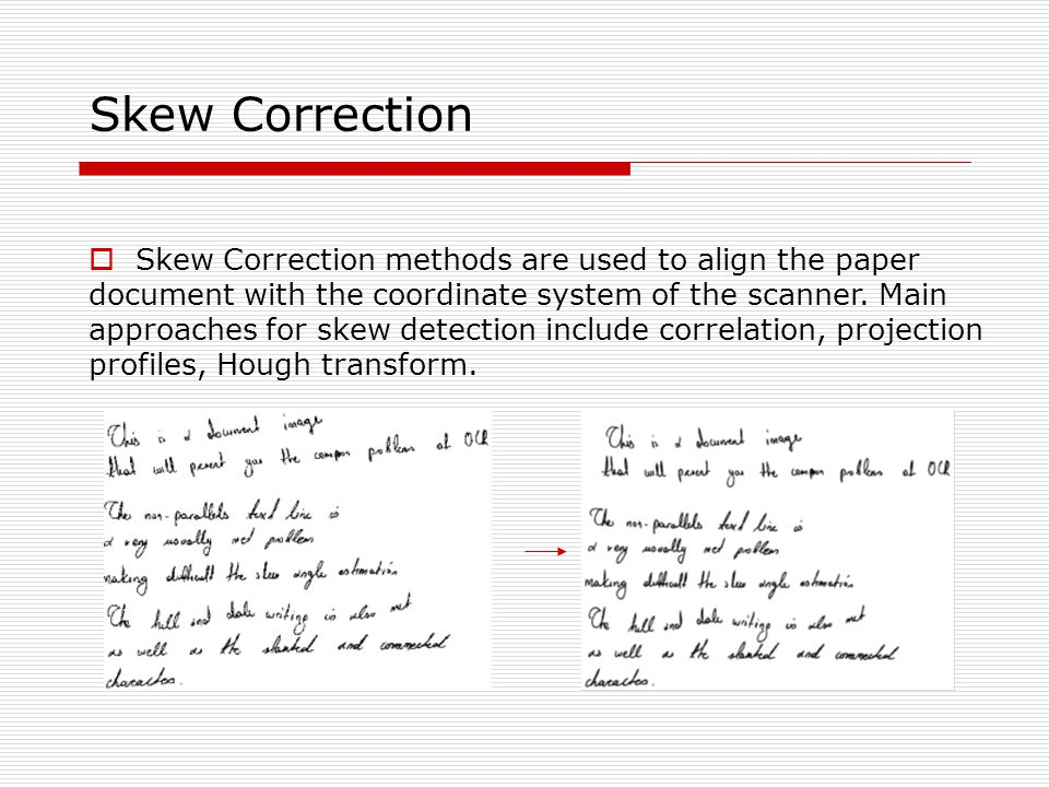 Skew Correction