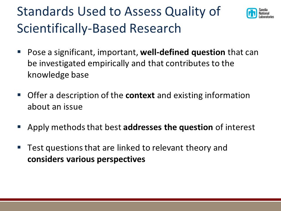 Traits of Quality Research (continued)