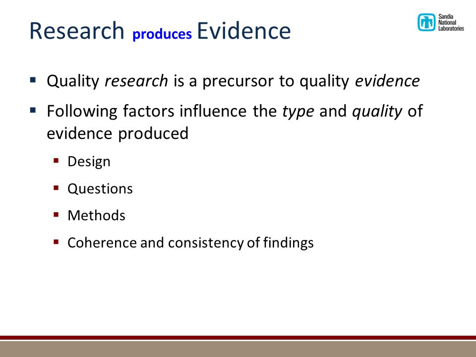 Research versus Evidence