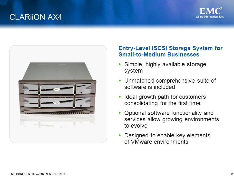 EMC CLARiiON AX4 January 2009