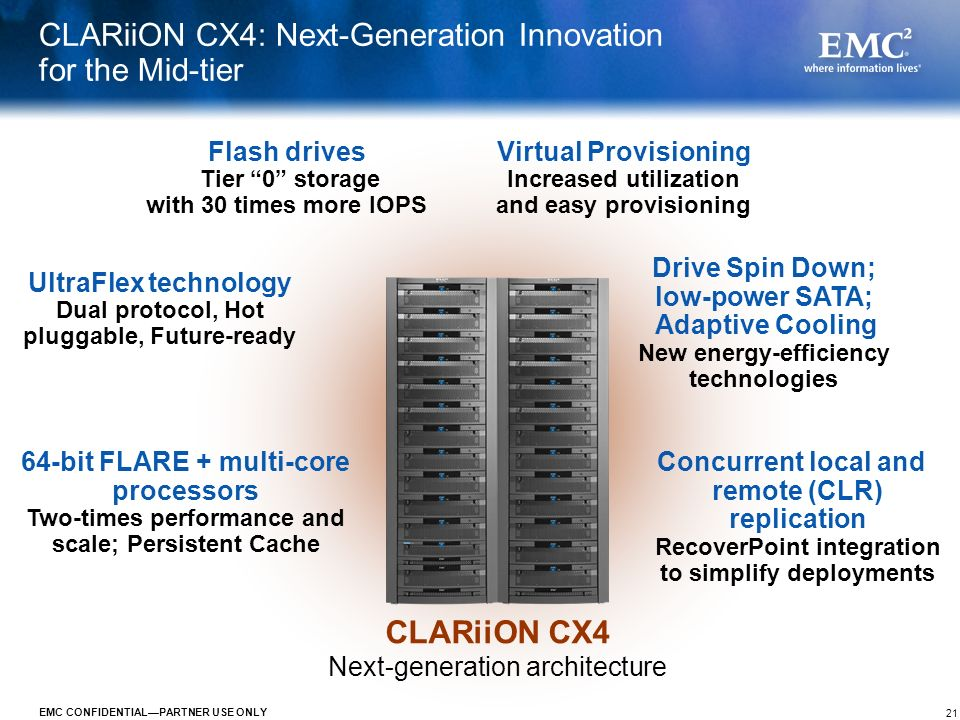 CLARiiON CX4: Next-Generation Innovation for the Mid-tier