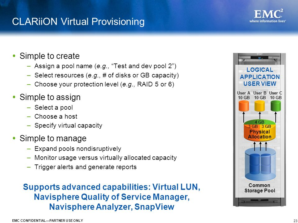 CLARiiON Virtual Provisioning