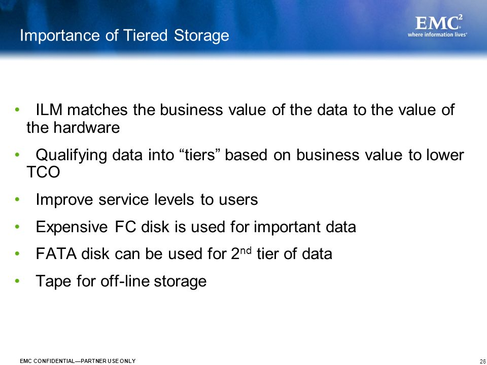 Importance of Tiered Storage