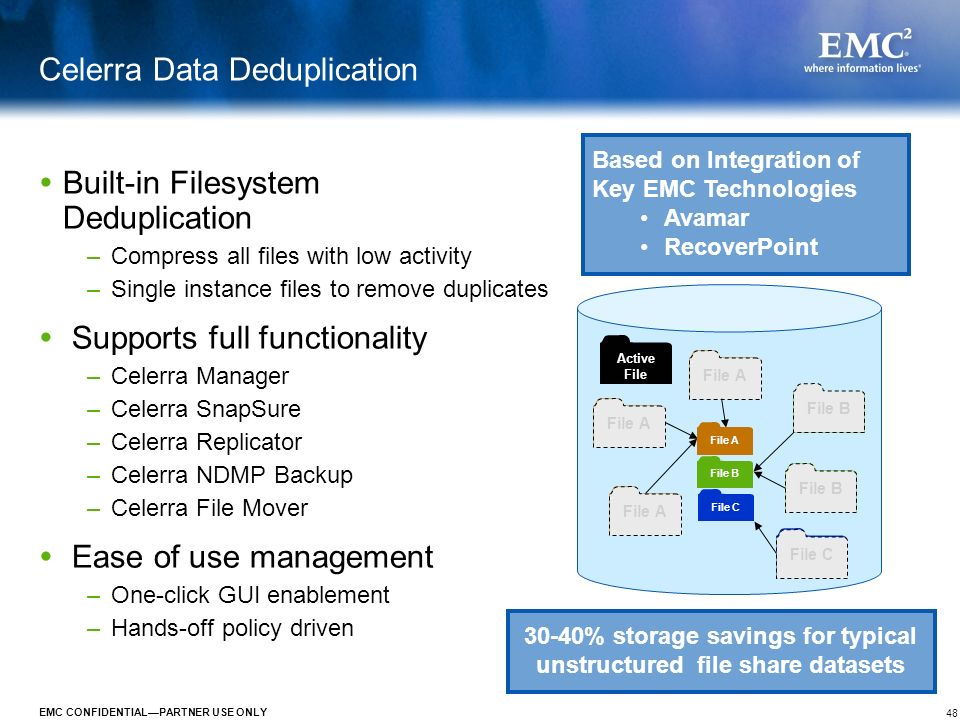 Celerra Data Deduplication