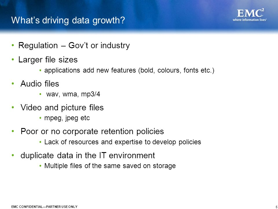 What's driving data growth