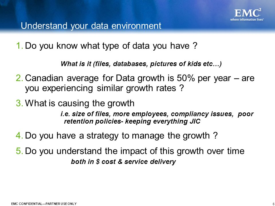 Understand your data environment