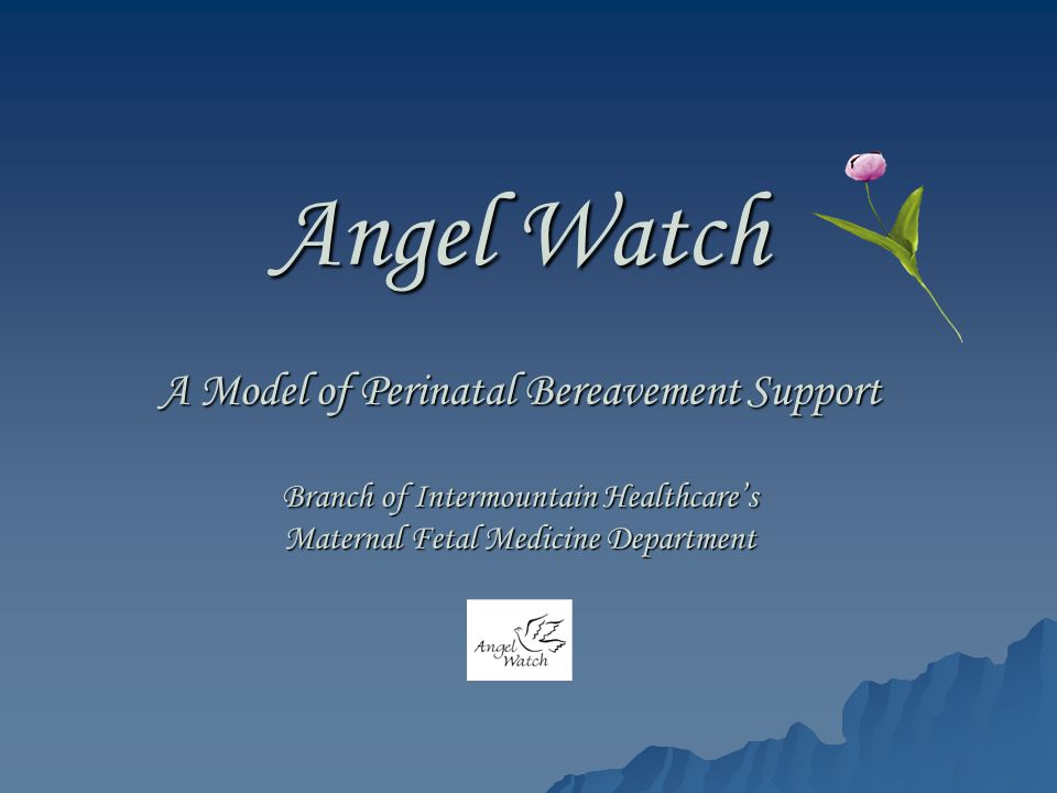 Angel Watch A Model of Perinatal Bereavement Support Branch of Intermountain Healthcare's Maternal Fetal Medicine Department