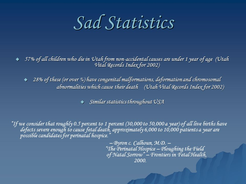 Similar statistics throughout USA