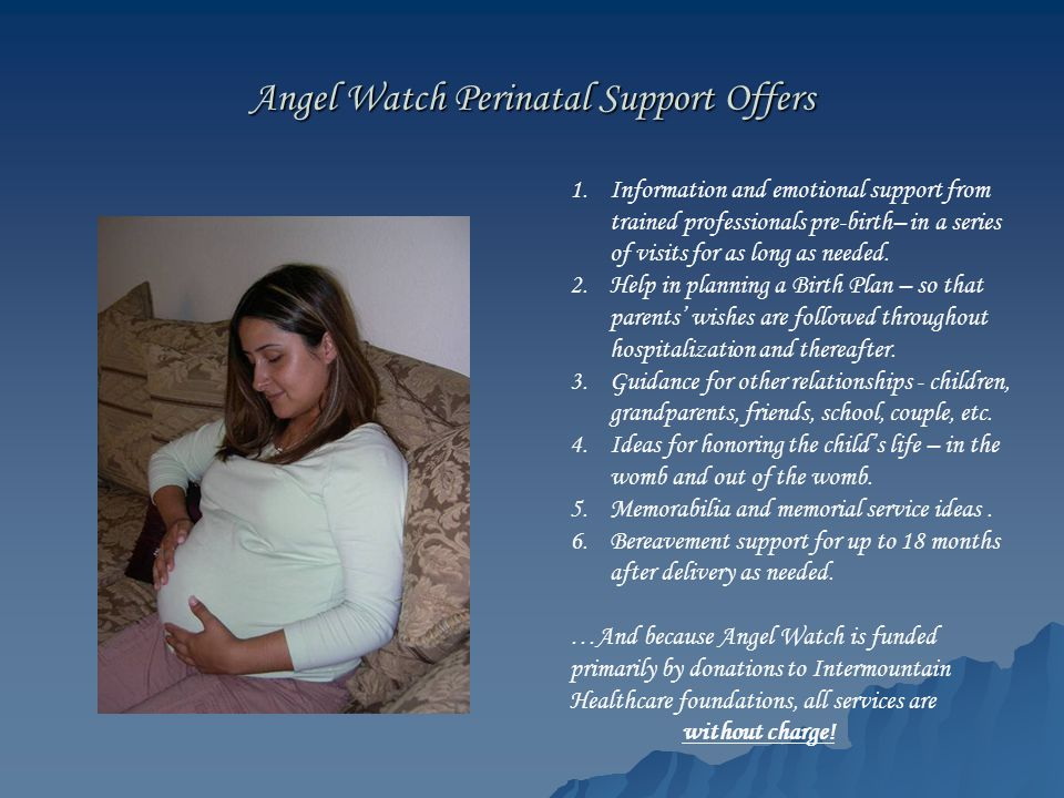 Angel Watch Perinatal Support Offers