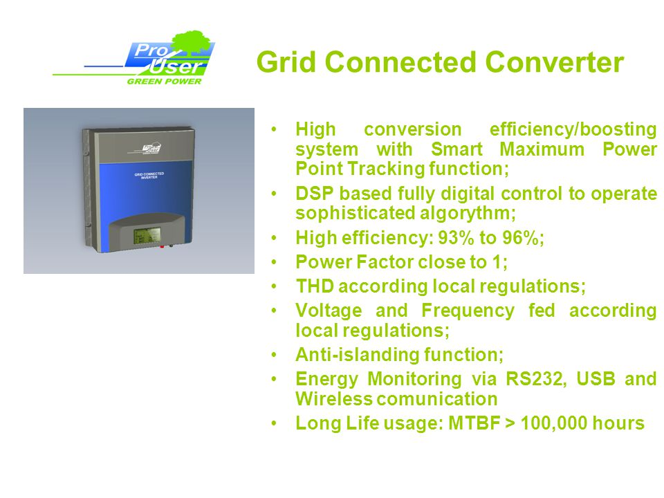 Grid Connected Converter