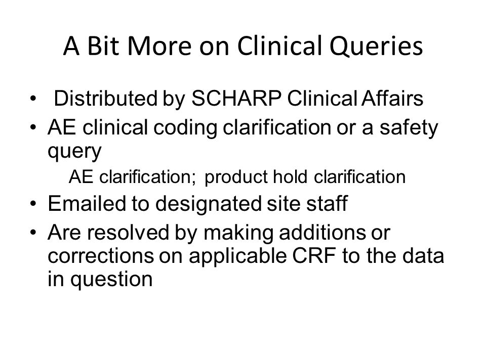 A Bit More on Clinical Queries