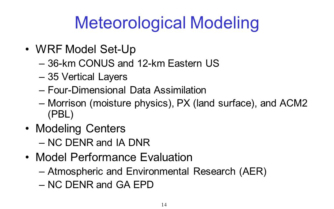 Meteorological Modeling