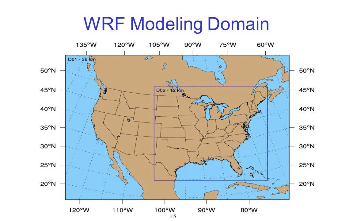 WRF Modeling Domain