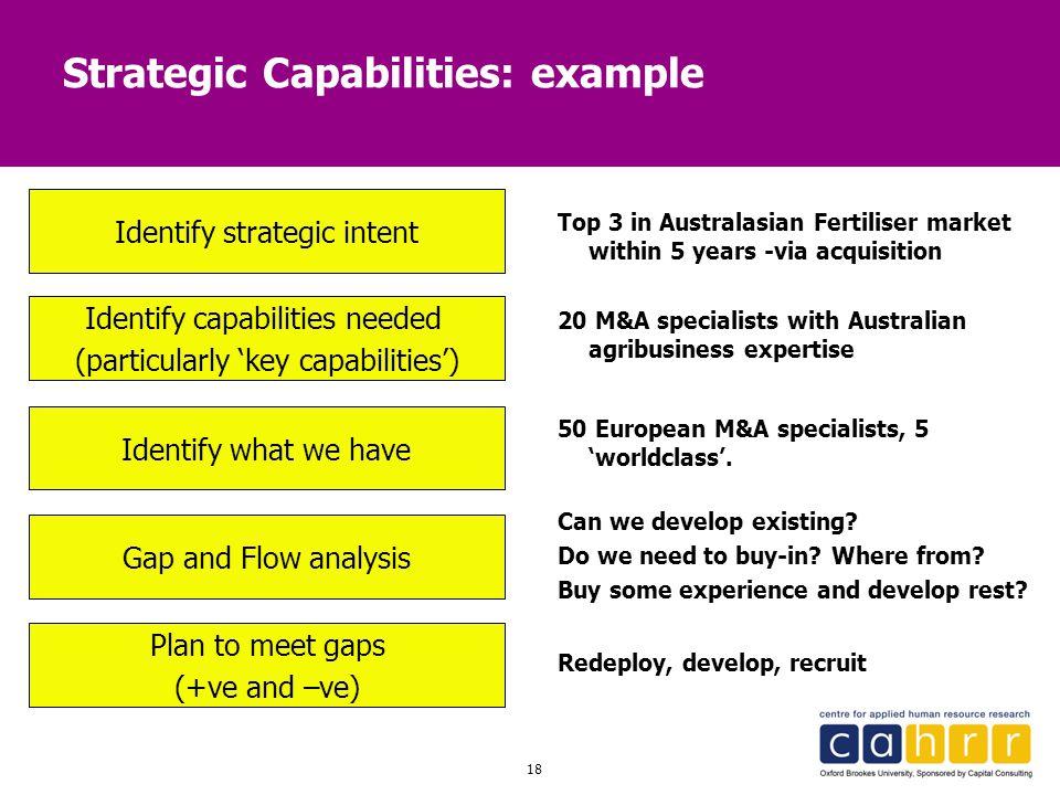 Strategic Capabilities: example