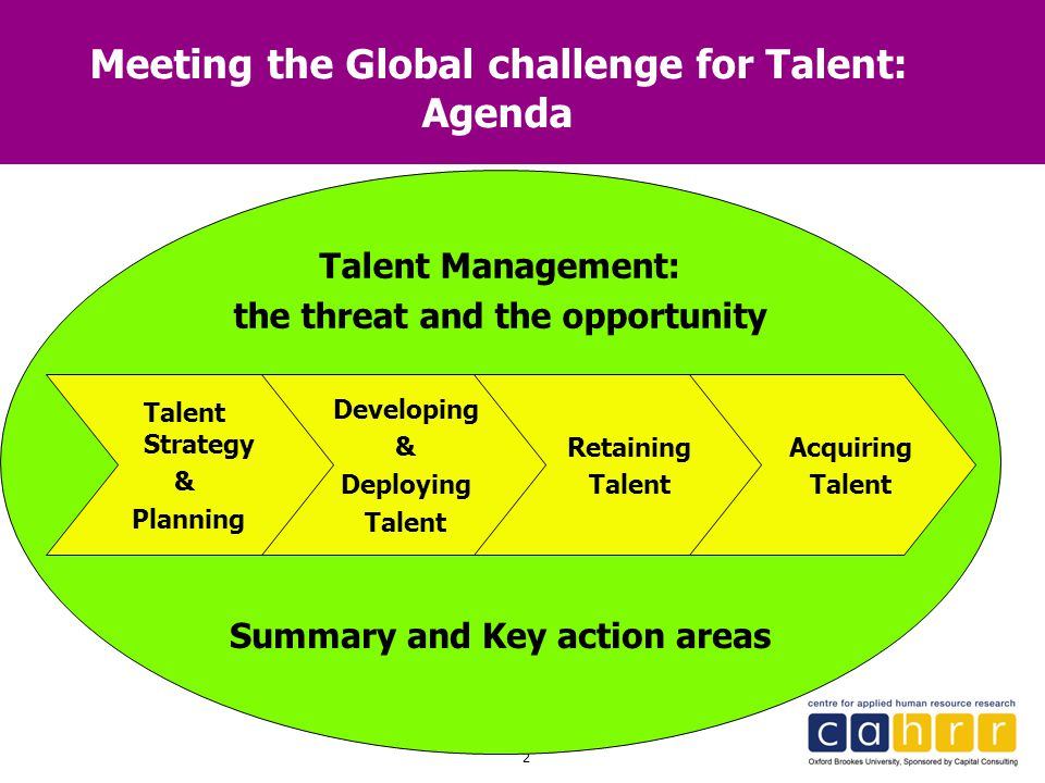 Meeting the Global challenge for Talent: Agenda