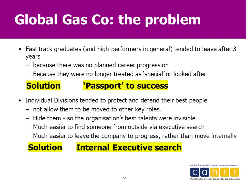 Global Gas Co: the problem