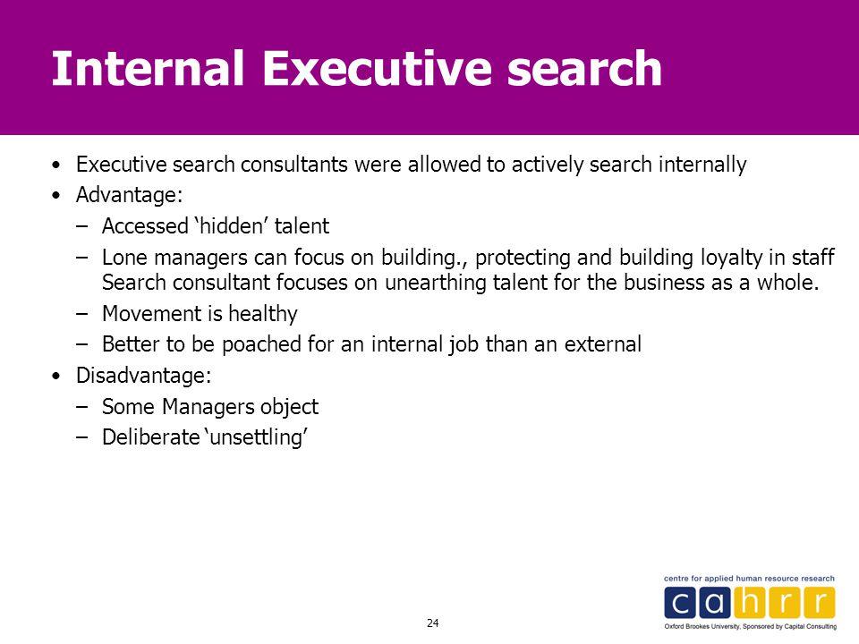Internal Executive search