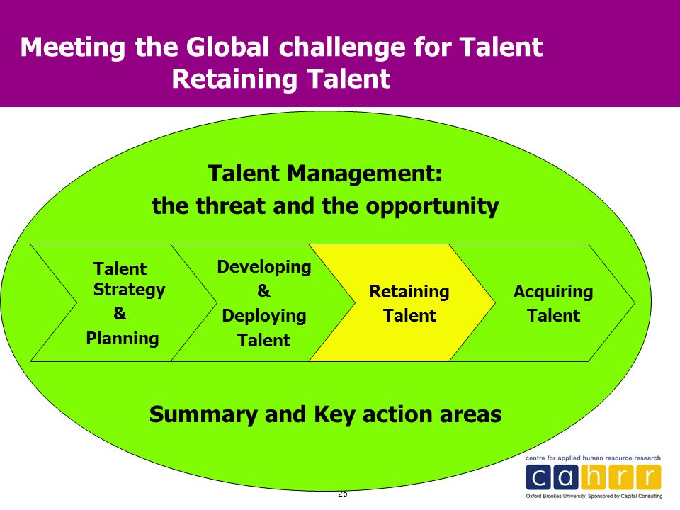 Meeting the Global challenge for Talent Retaining Talent