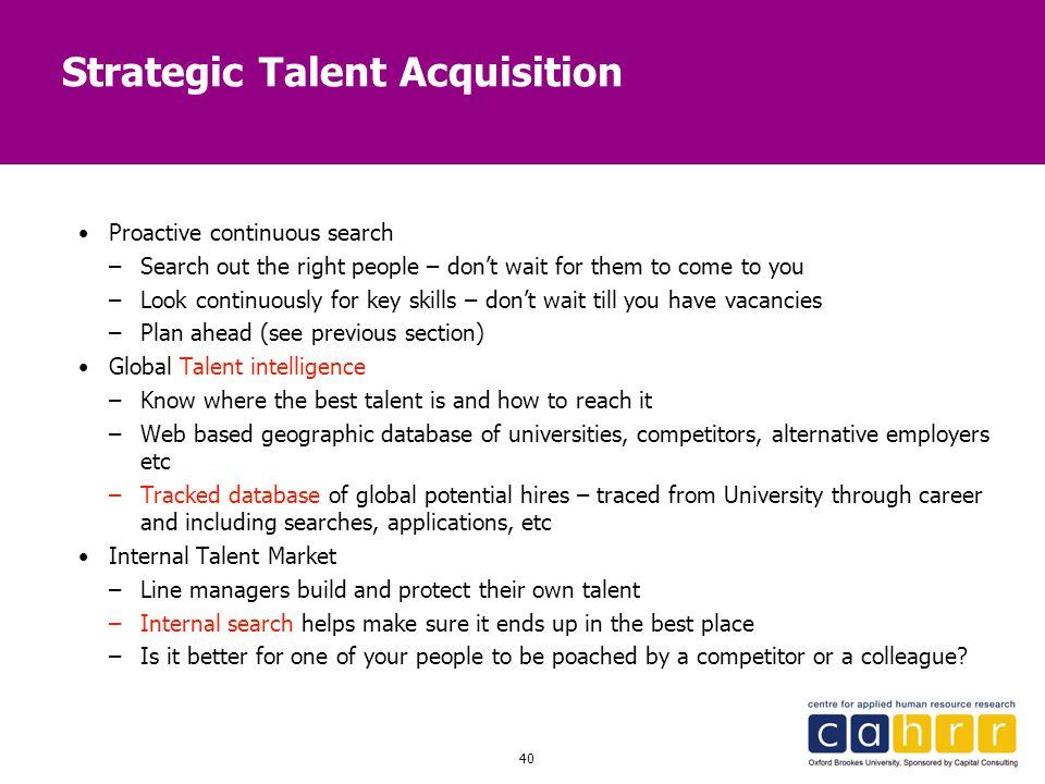 Strategic Talent Acquisition