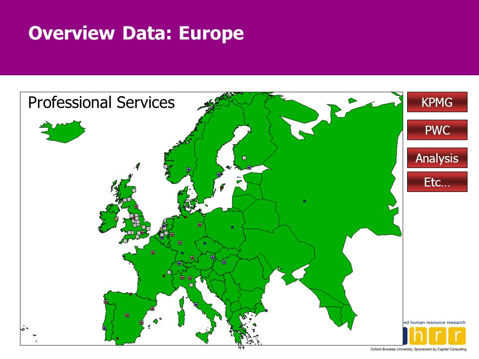 Overview Data: Europe Professional Services KPMG PWC Analysis Etc…
