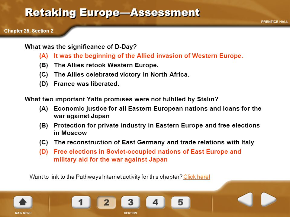 Retaking Europe—Assessment