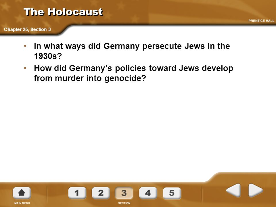 The Holocaust In what ways did Germany persecute Jews in the 1930s