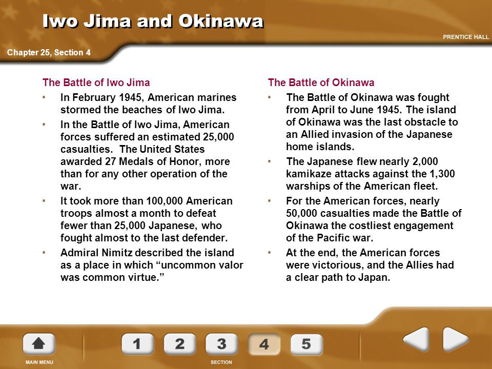 Iwo Jima and Okinawa The Battle of Iwo Jima