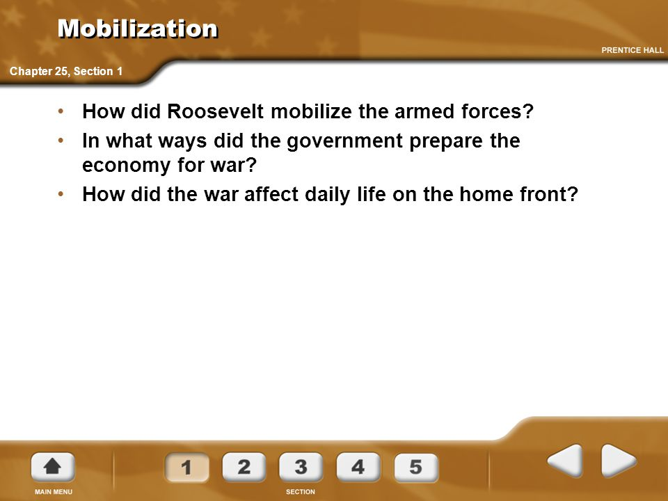 Mobilization How did Roosevelt mobilize the armed forces