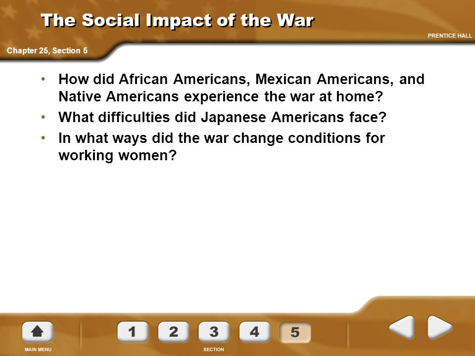 The Social Impact of the War