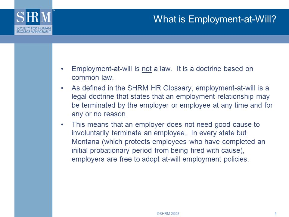 What is Employment-at-Will