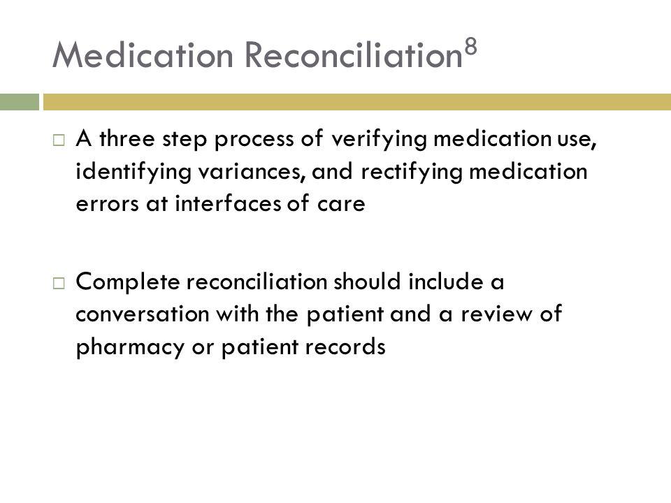 Medication Reconciliation8