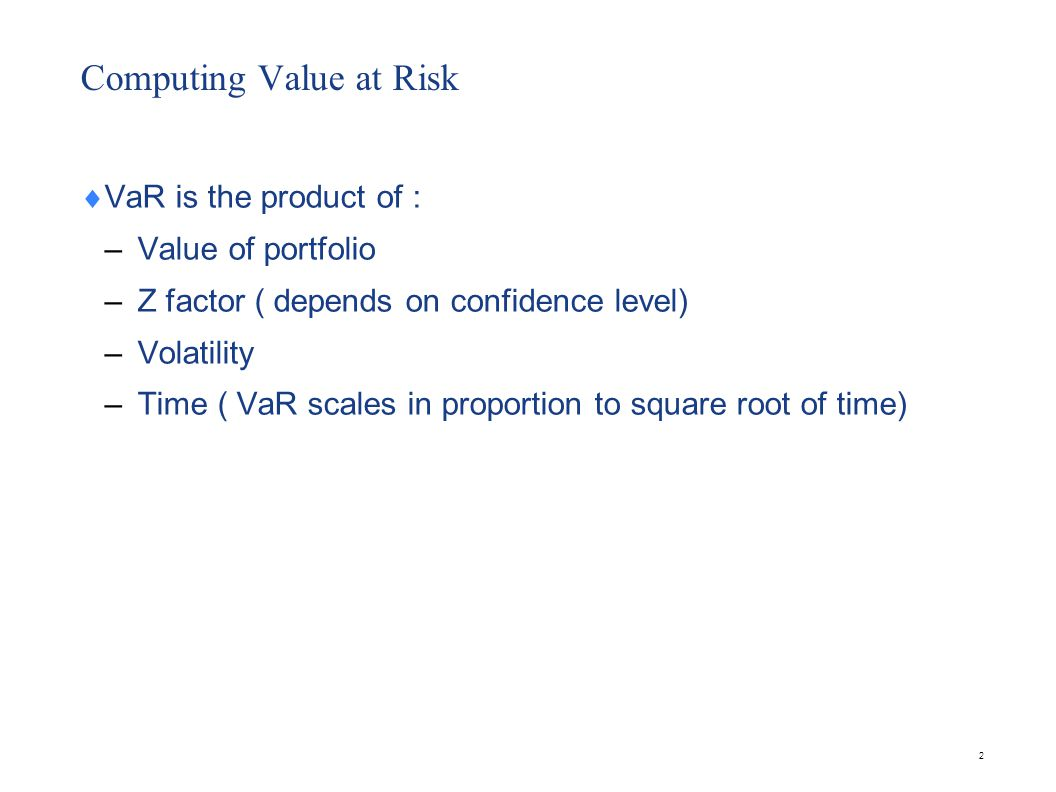 Computing Value at Risk