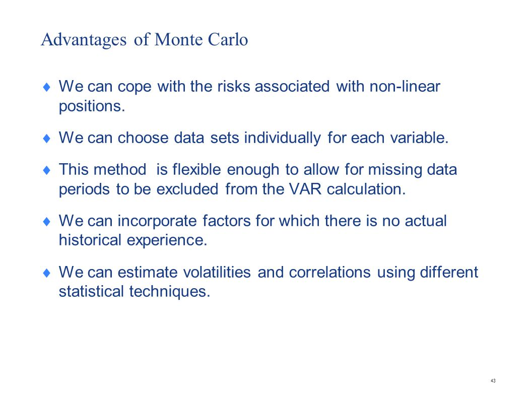 Problems with Monte Carlo