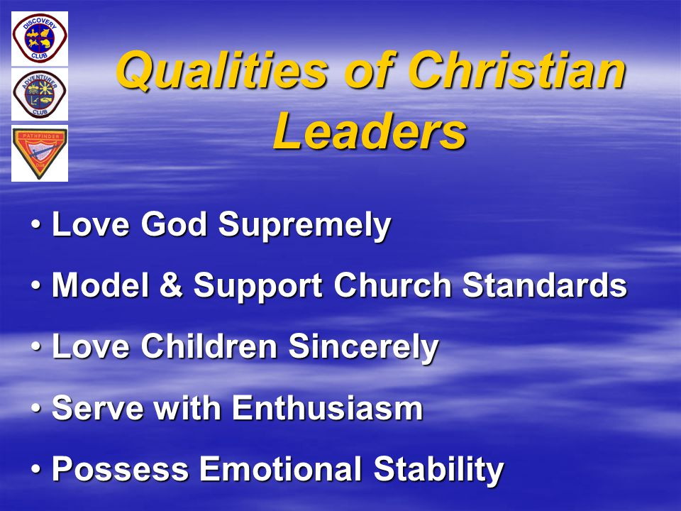 Qualities of Christian Leaders