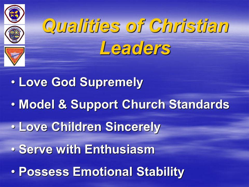 Qualities of Christian Leaders