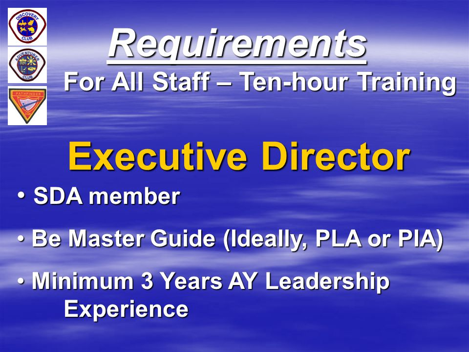 For All Staff – Ten-hour Training