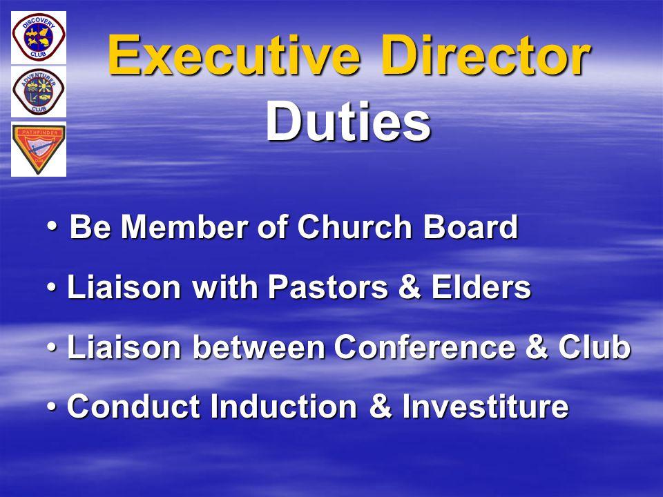 Executive Director Duties