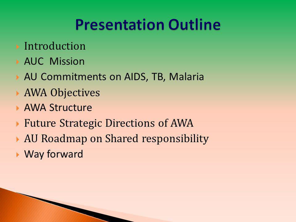 Presentation Outline Introduction AUC Mission
