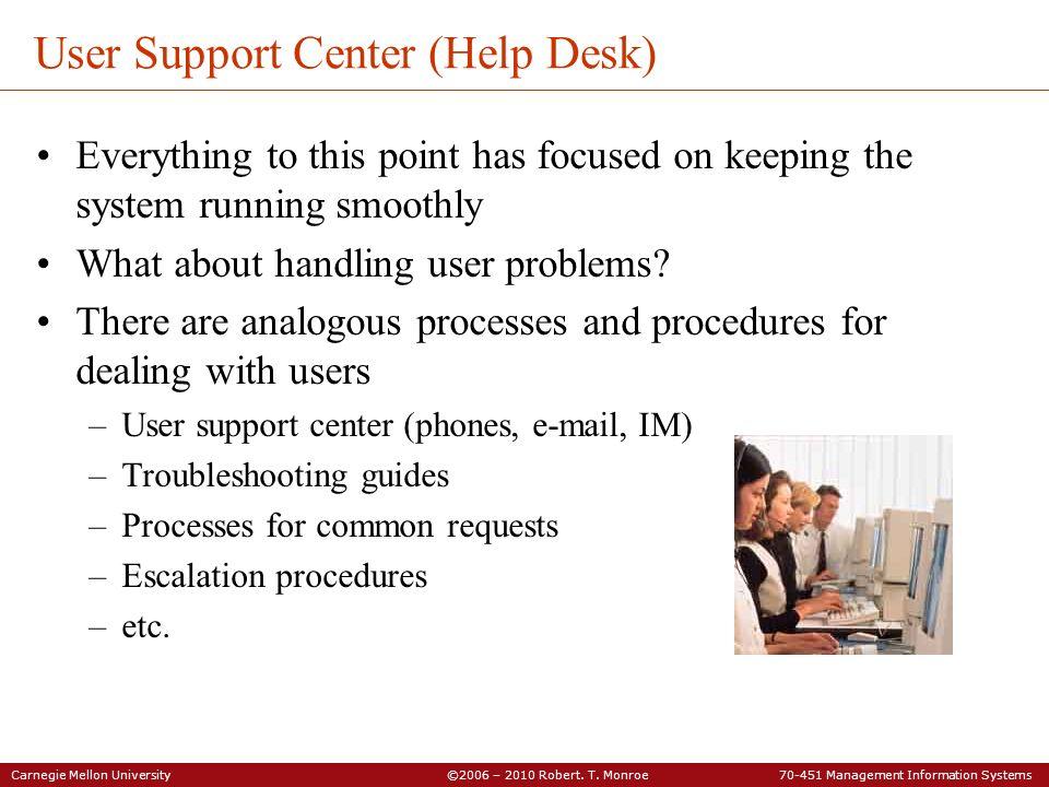 User Support Center (Help Desk)