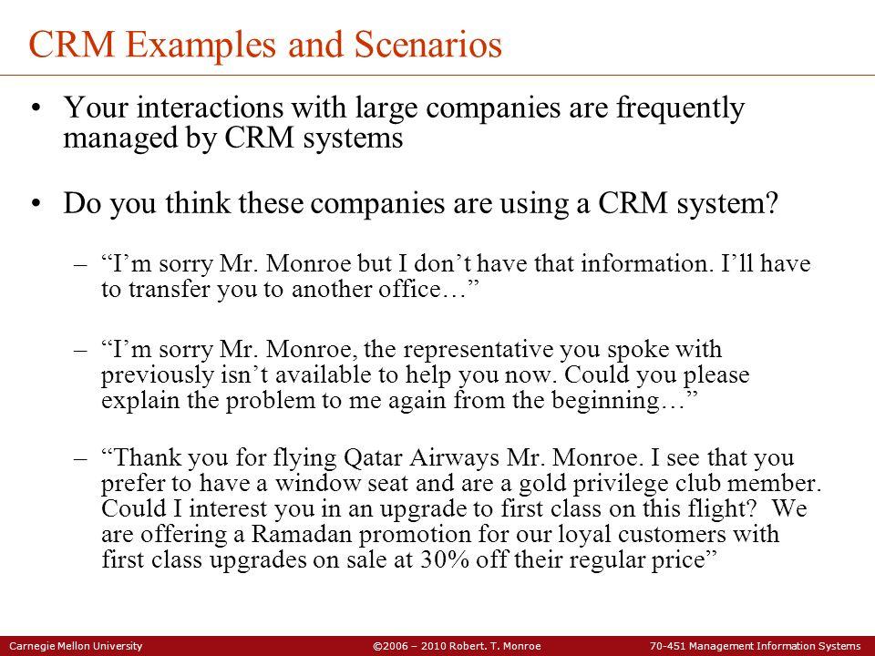 CRM Examples and Scenarios