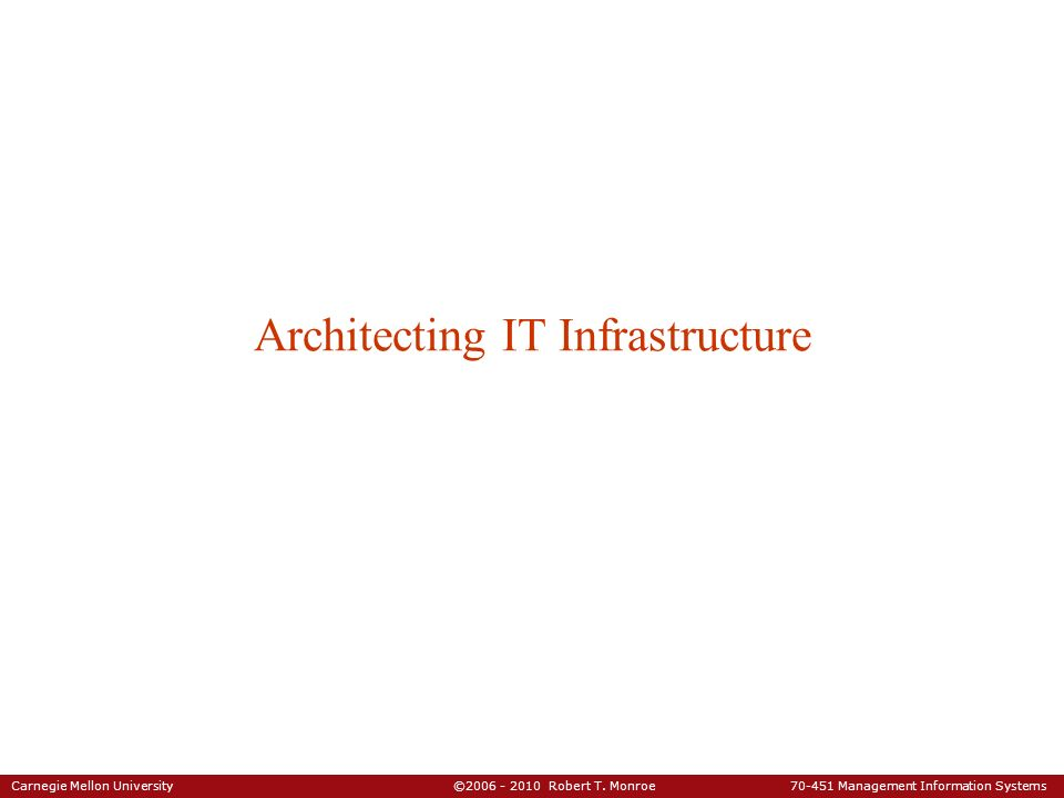 Architecting IT Infrastructure
