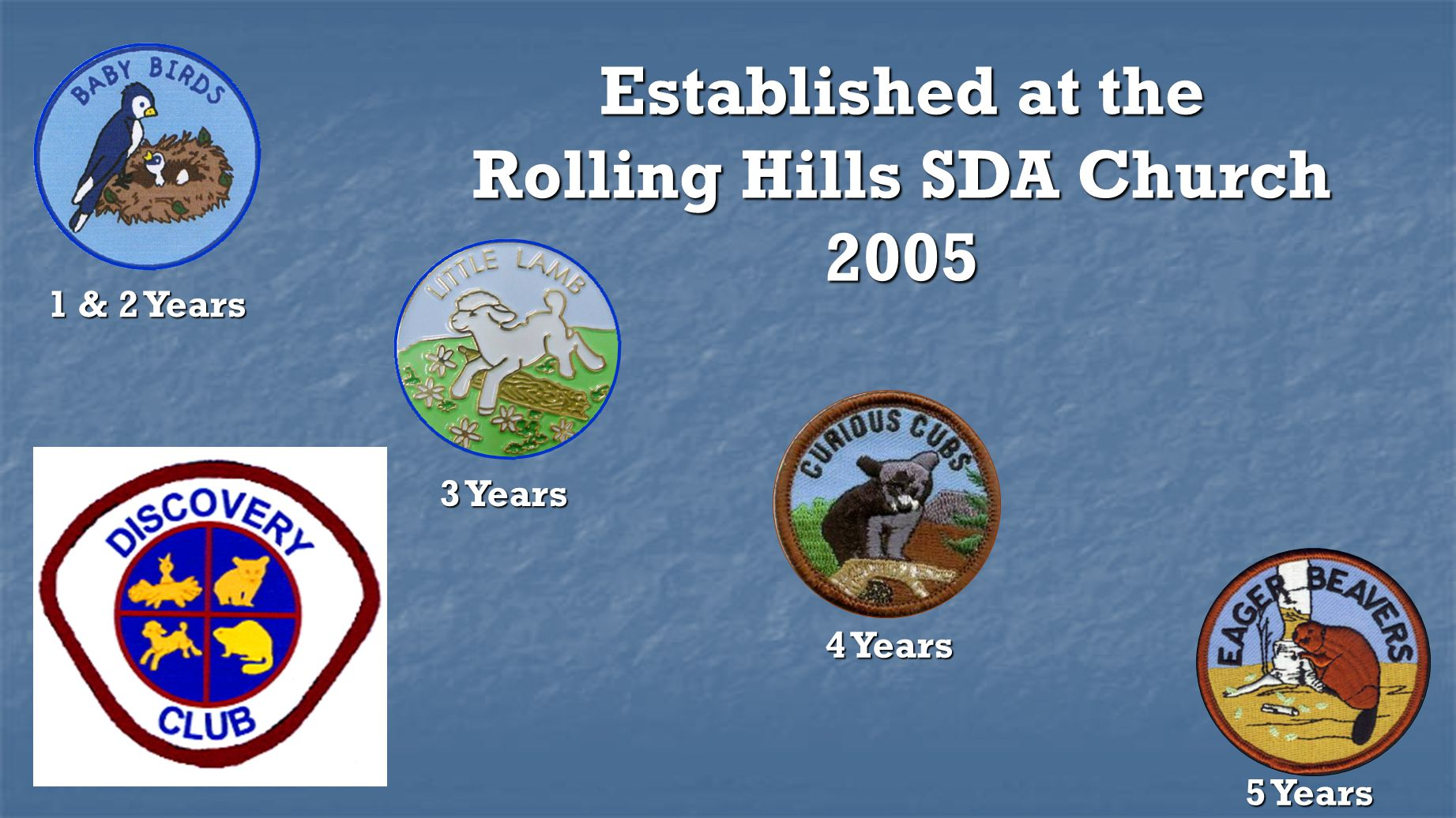 Established at the Rolling Hills SDA Church 2005