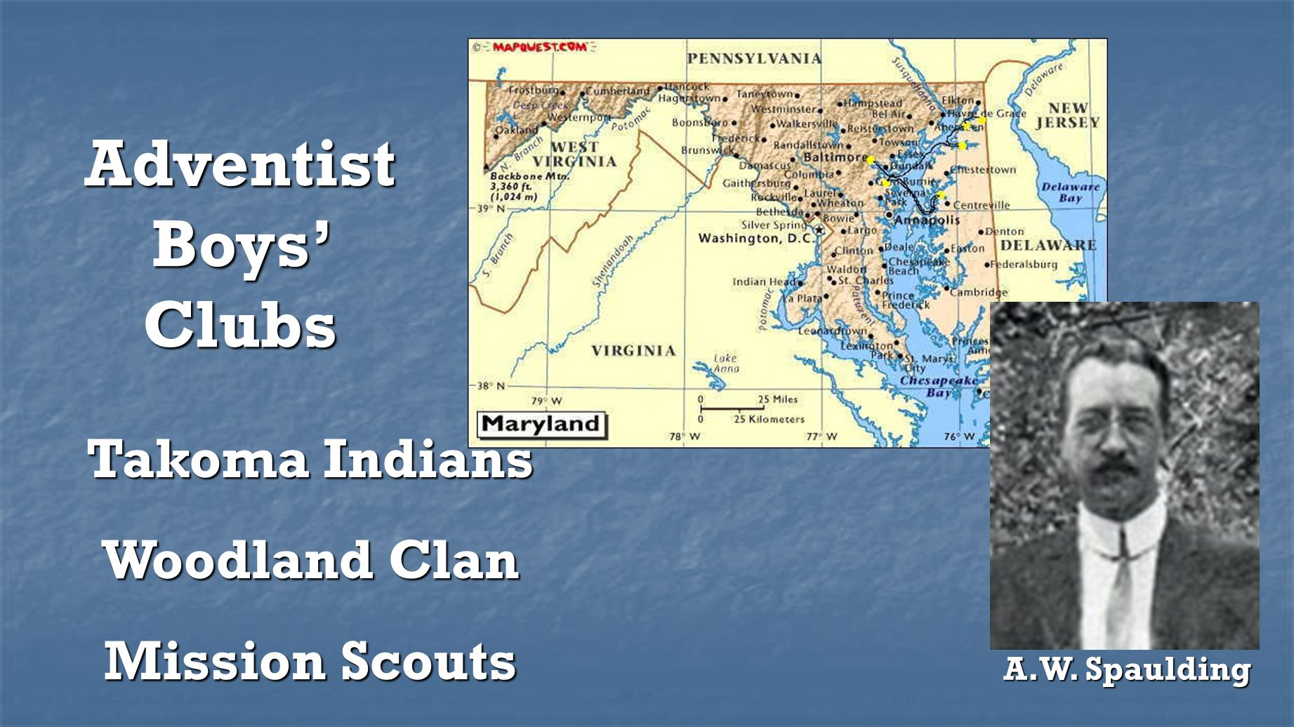 Adventist Boys' Clubs Takoma Indians Woodland Clan Mission Scouts