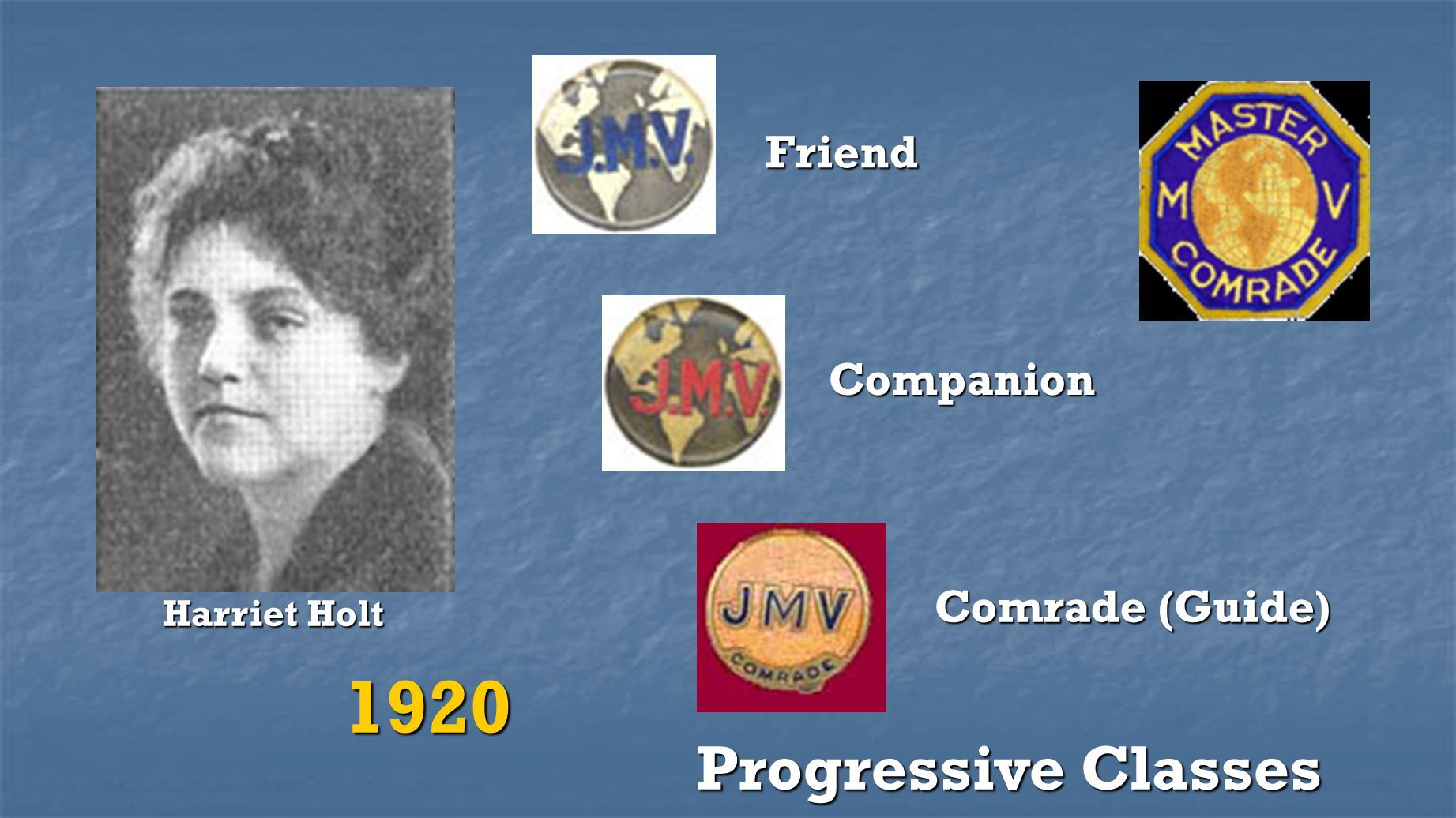 Friend Companion Comrade (Guide) Harriet Holt 1920 Progressive Classes